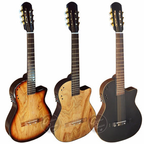 Guitarra Electro Criolla Media Caja Ecu Afinador Funda Gtia