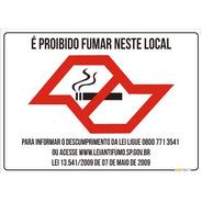 Placas Proibido Fumar 18x25 Cm