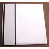 10 Azulejos Antiguos Blanco Con Guarda Negra 15x15 Cms.