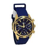 Reloj Guess Dama Original Uo562l2 Dorado Azul