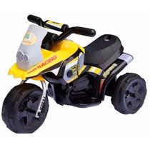 Moto Infantil Bfun Triciclo Racing A Batería 6v Con Luz