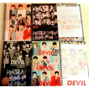 Libreta Kpop Super Junior Devil Coreano Oppas Cuaderno Suju
