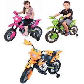 Mini Moto Cross Elétrica 6v Infantil Triciclo Bateria Bivolt