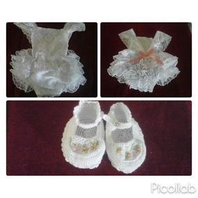 Body Tipo Vestido Bebe Niña Talla 3 6 Y 9 Meses
