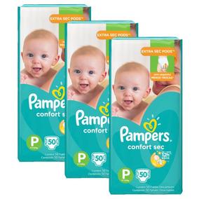 Kit Fralda Pampers Confort Sec Tamanho P Com 150 Unidades