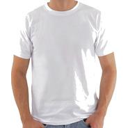 Camiseta Branca 100% Algodão Fio 24 Promocional Atacado
