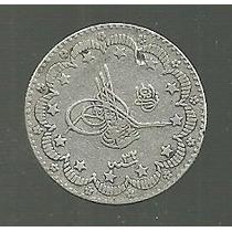 Turquia 5 Kurush 1906 Plata