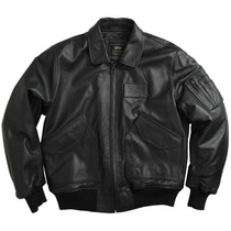 Chaqueta Alpha Industries En Cuero Cwu 45p Leather