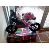 Bicicleta Strider De Aprendizaje Plt Rin 12 Rosado Y Azul