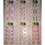 50 Catelas Com 10 De Adesivos Artesanais P/ Decorar Unhas