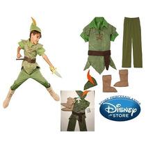 Fantasia Peter Pan Tam.7,8,10 Original Loja Disney P/entrga