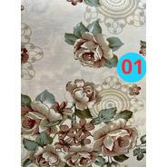 Tecido Jacquard Estampado Floral 1,00m X 2,20m