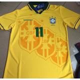 Camisa Brasil Retrô 1994 Oficial Copa 94 Romário Bebeto Raí