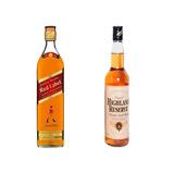 Whisky Johnnie Walker Et. Roja Y Whisky Highland Reserve