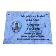 Placa Recordatoria, Marmol 30x30. Para Cementerio. Foto 9x12