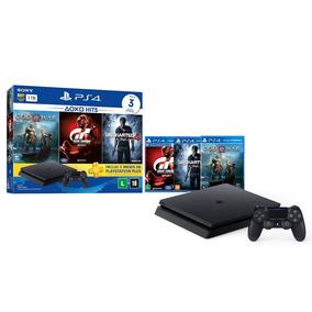 Console Sony Playstation 4 Slim 1tb Hits Bundle 3 Jogos