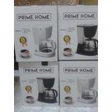 Cafetera Electrica 5 Tazas Negra Y Blanca Prime Home