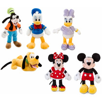Kit 6 Pelúcias Disney Mickey, Minnie, Donald E + Original