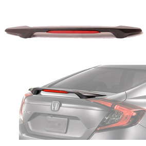 Aerofólio Honda Civic 2017 2018 Brake Light Led Sem Pintura