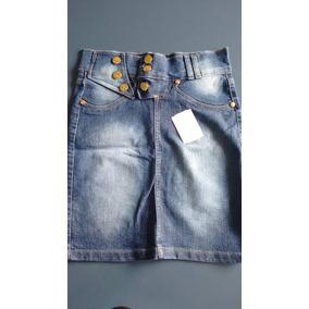 Promoção Saia Jeans C/6 Botões Moda Evangélica P-36 ,m-38