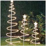 Set De 3 Árboles Iluminados Con Luz Led