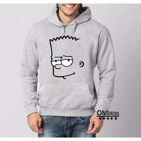 Blusa Bart Simpsons Moletom Canguru