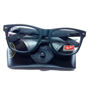 Óculos Armação Grau Feminino Masculino Wayfarer Fosco Preto