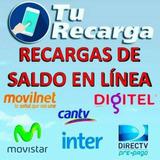 Recarga Saldo Movilnet Digitel Movistar Intercable Directv