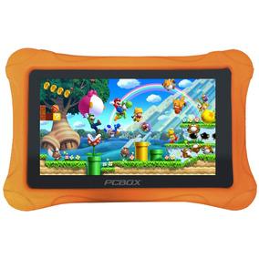 Tablet 7 Pulgadas Pcbox T715k Funda Para Niños Naranja