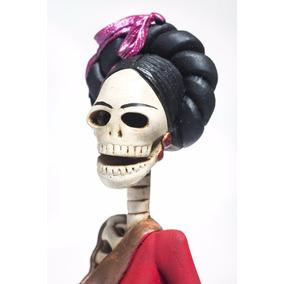 Graciela Catrina Mexicana De Barro 100% Hecha A Mano¡¡¡