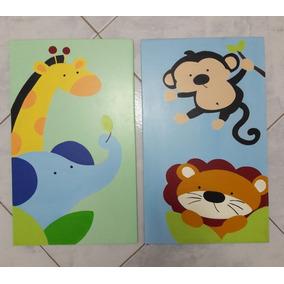 Decoracion De Animlitos O Safari Bebés Usado En Mercado