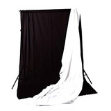 Cowboystudio 10 X 12ft Black & White Muslin Backdrops With S