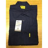 Camisa De Trabajo Pampero Color Azul Talle 42 Buloneraguemes