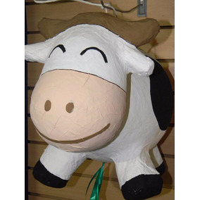 Piñata Vaca Y Animales De Granja Caballos