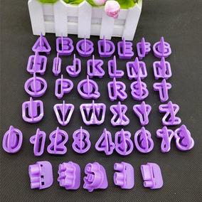 Cortadores Letras Números- 40 Peças - Frete Grátis