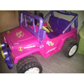 Carro Power Wheels - Jeep Para Niña De Barbie