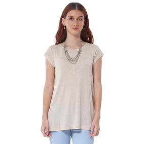 Blusa De Jersey De Mujer Aishop Af173-1102-501 Beige 72e1cc45d742