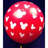 Balão Mickey E M Com 25 Bexigas Aniversário Festa Decoração