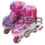Super Patins Infantil Inline Roller Roda Gel Dsr - Azul