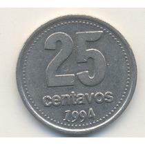 Error En Moneda Argentina De 25 Centavos Año 1994
