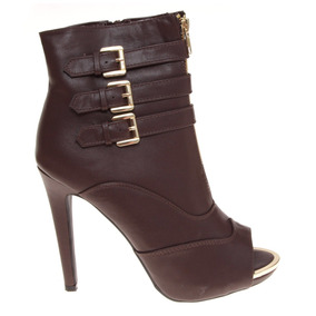 Zapatilla Botín Sandalia Pep Toe Fashion Elegante Forever