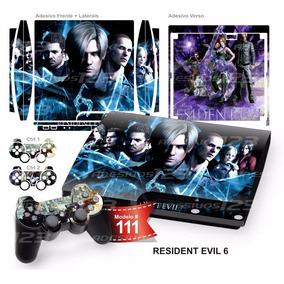Adesivo Ps3 Slim Vinil Pelicula Skin Resident Evil 6