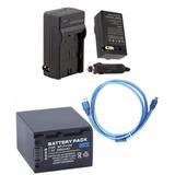Kit Bateria Np-fv100 + Carregador + Cabo Usb P Sony Dcr-sx65