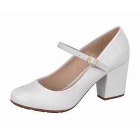 Sapato Branco Boneca Noiva Enfermagem Saltinho Frete Gratis