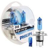 Juego Lamparas Philips Crystal Vision Ultra H4 De 12v 55w