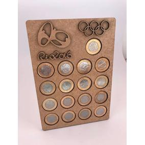 Porta Moedas Olímpicas Em Mdf Cru 3mm Organizador Rio 2016