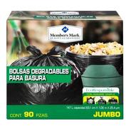 Bolsa Para Basura Member's Mark Jumbo Degradable 90 Pzas