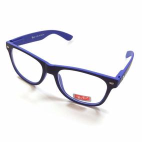 Armacao Oculos Rayban Quadrado Estilo Jovem Colorido Vemelho