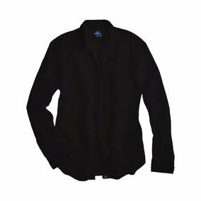 Camisa Slim De Hombre Negra