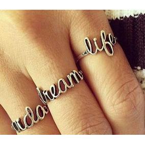 Anel Prata 925 Estilo Pandora Escolha Vida Amor Life Dream